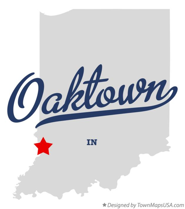 Map of Oaktown Indiana IN