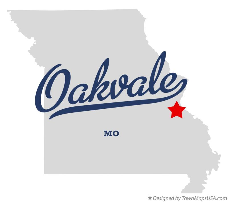 Map of Oakvale Missouri MO