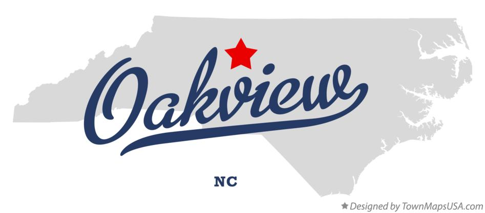 Map of Oakview North Carolina NC