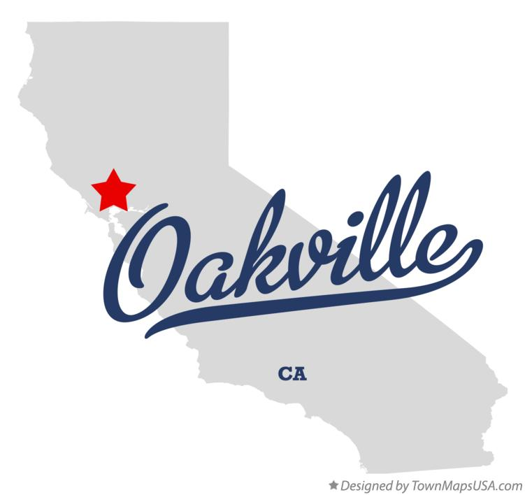 Map of Oakville California CA