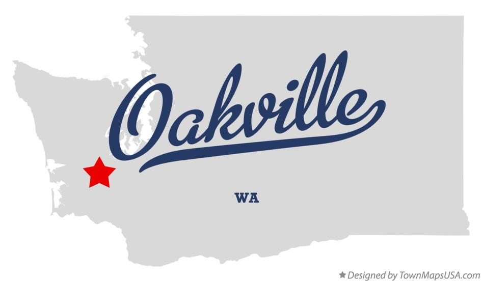 Map of Oakville Washington WA