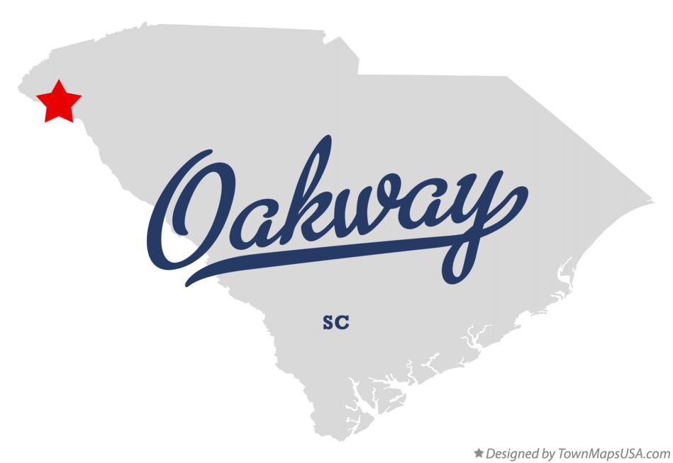 Map of Oakway South Carolina SC
