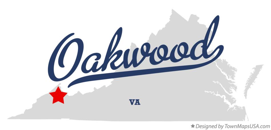 Map of Oakwood Virginia VA