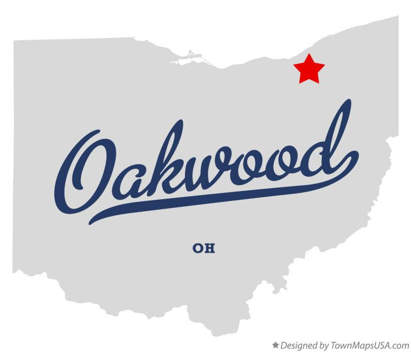 Map of Oakwood Ohio OH