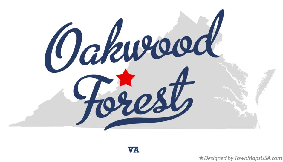 Map of Oakwood Forest Virginia VA