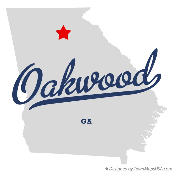 Map of Oakwood Georgia GA