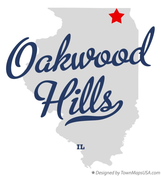 Map of Oakwood Hills Illinois IL