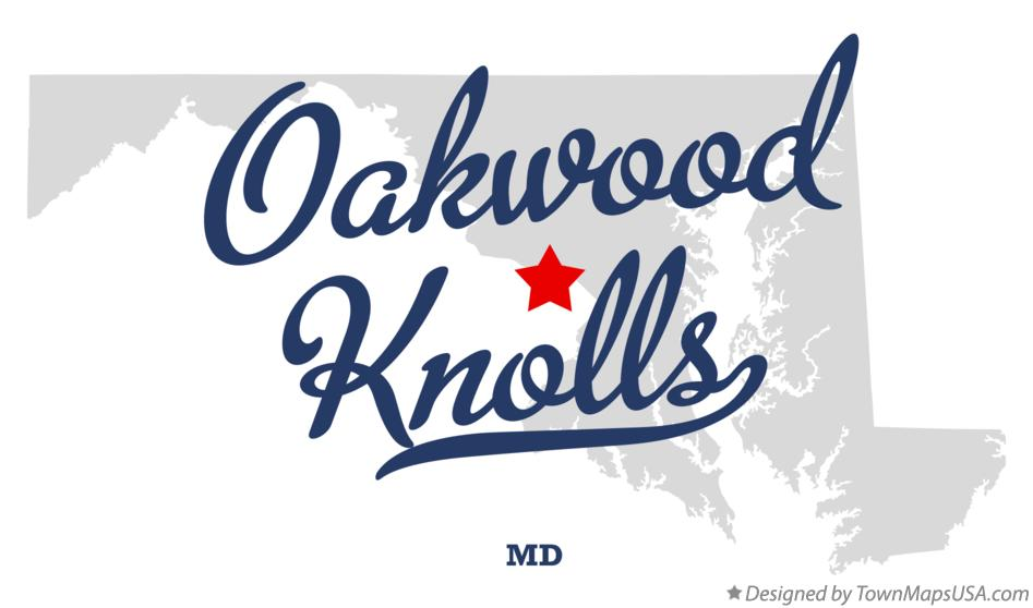 Map of Oakwood Knolls Maryland MD