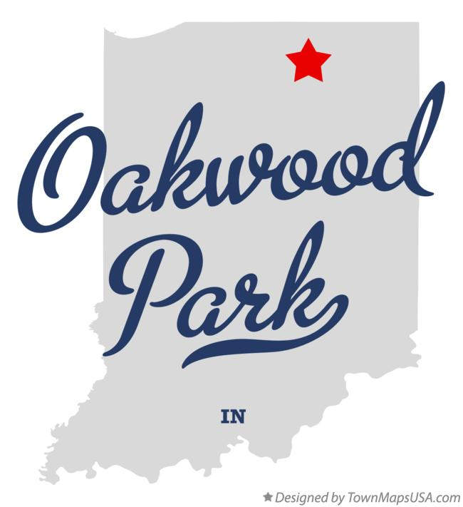 Map of Oakwood Park Indiana IN