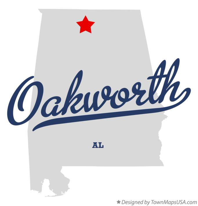 Map of Oakworth Alabama AL