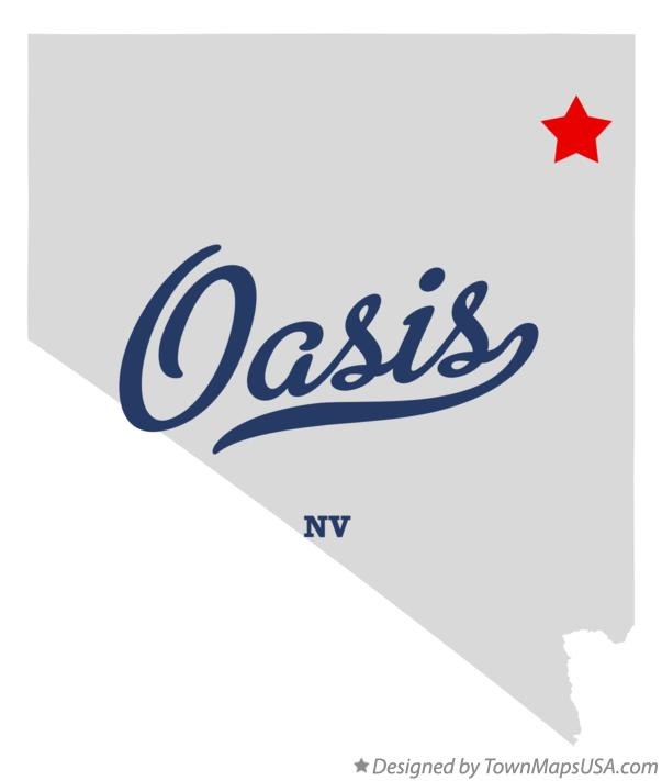 Map of Oasis Nevada NV