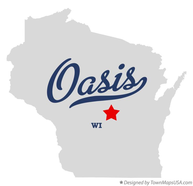 Map of Oasis Wisconsin WI