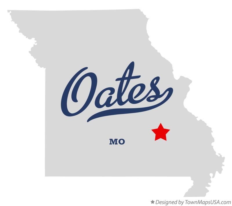 Map of Oates Missouri MO
