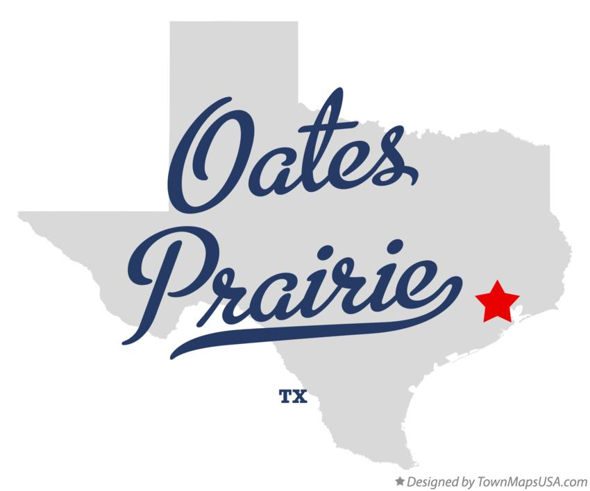 Map of Oates Prairie Texas TX