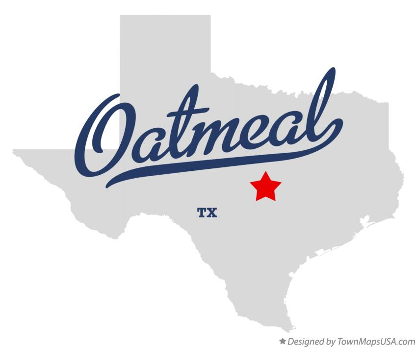 Map of Oatmeal Texas TX