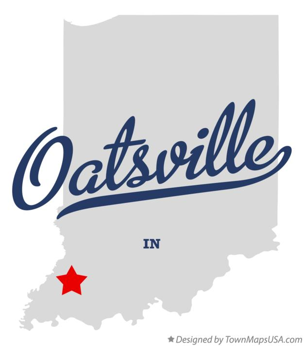 Map of Oatsville Indiana IN