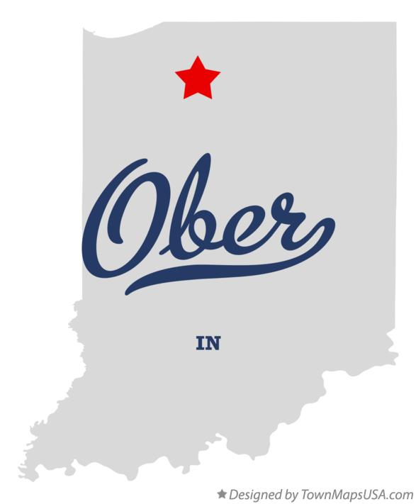 Map of Ober Indiana IN
