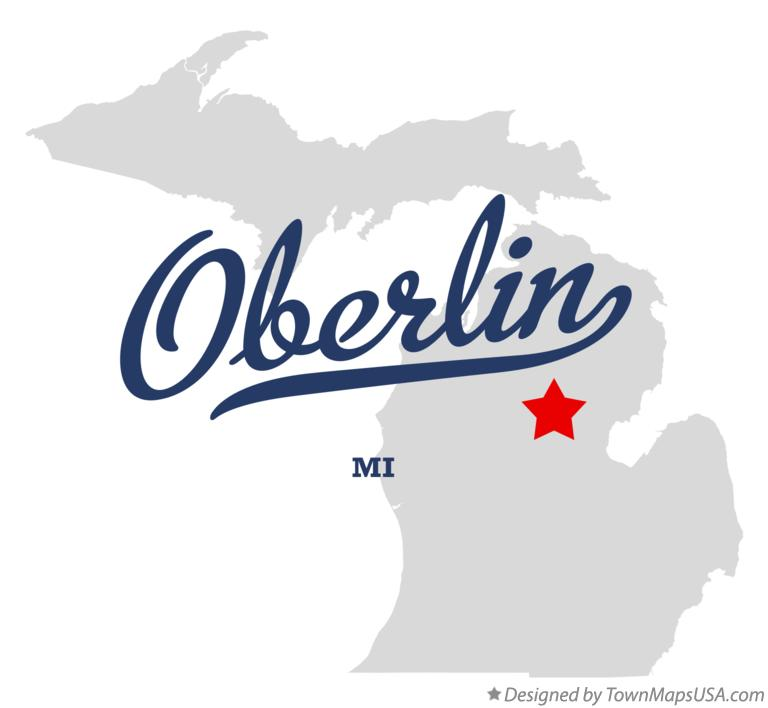 Map of Oberlin Michigan MI