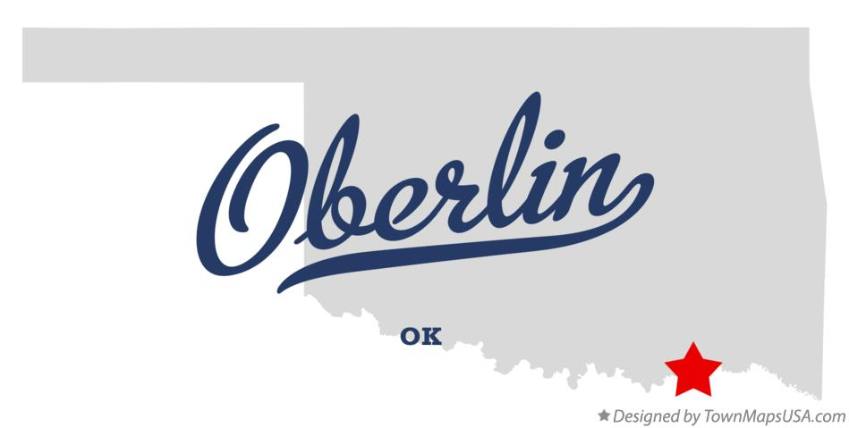Map of Oberlin Oklahoma OK