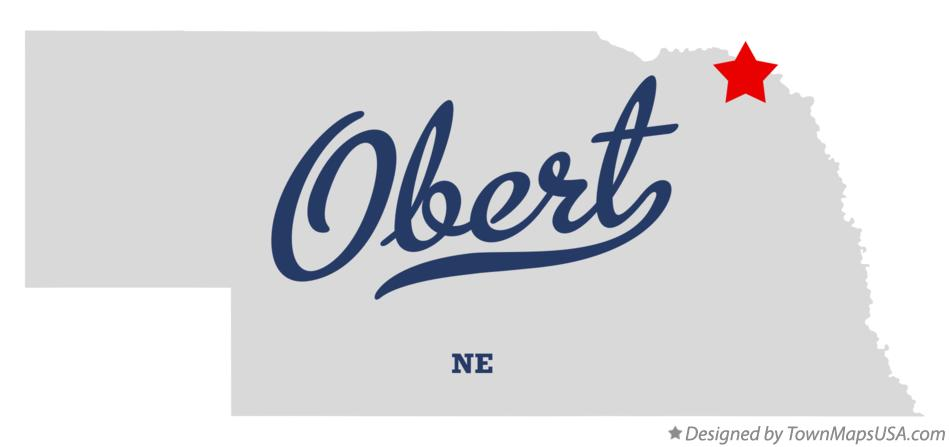 Map of Obert Nebraska NE