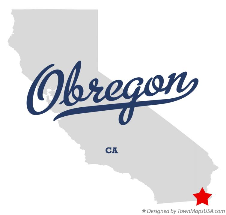 Map of Obregon California CA