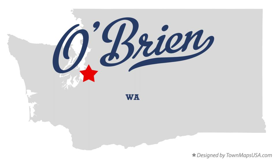 Map of O'Brien Washington WA