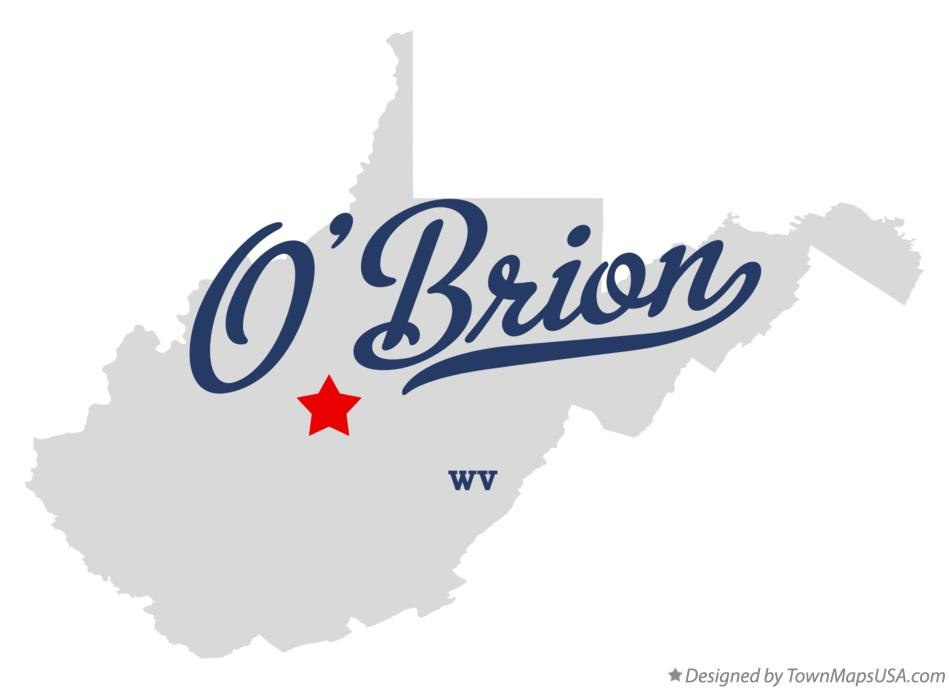 Map of O'Brion West Virginia WV