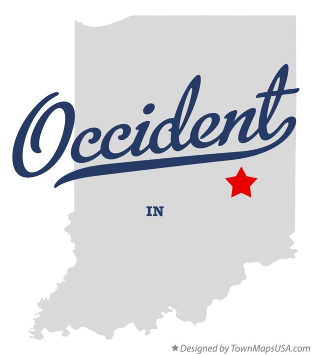 Map of Occident Indiana IN
