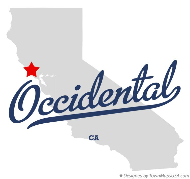 Map of Occidental California CA