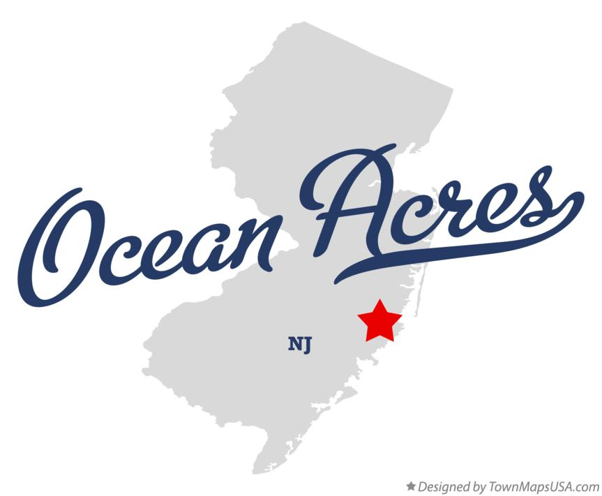 Map of Ocean Acres New Jersey NJ