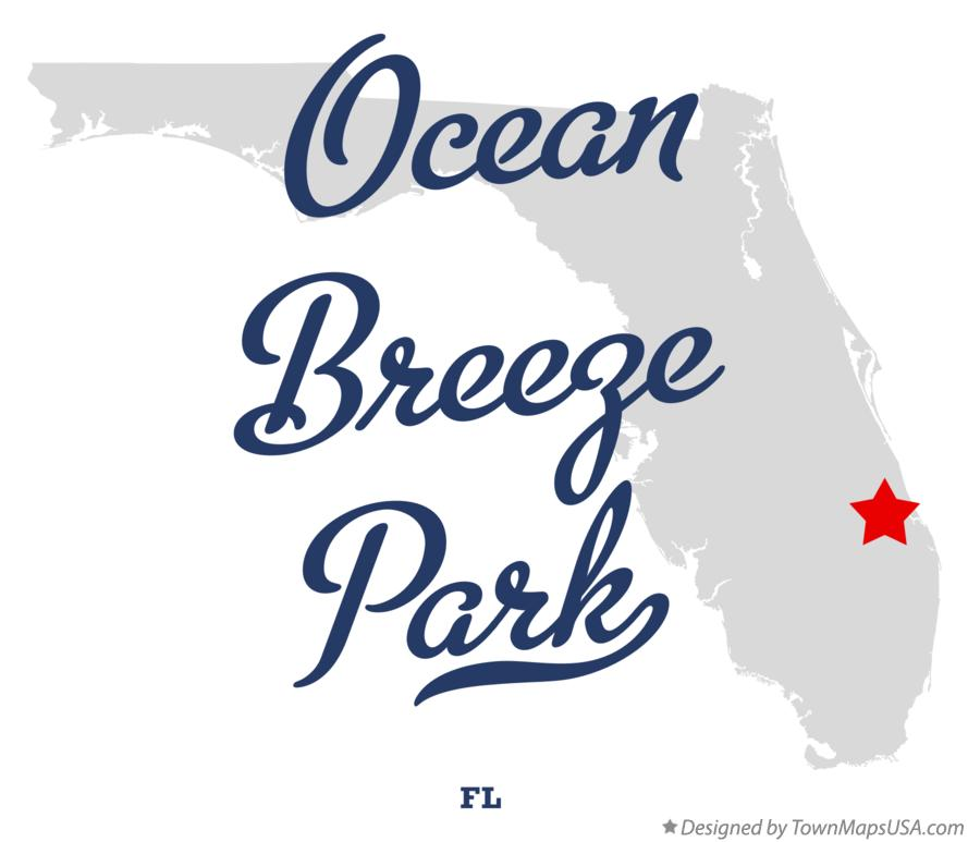 Map of Ocean Breeze Park Florida FL