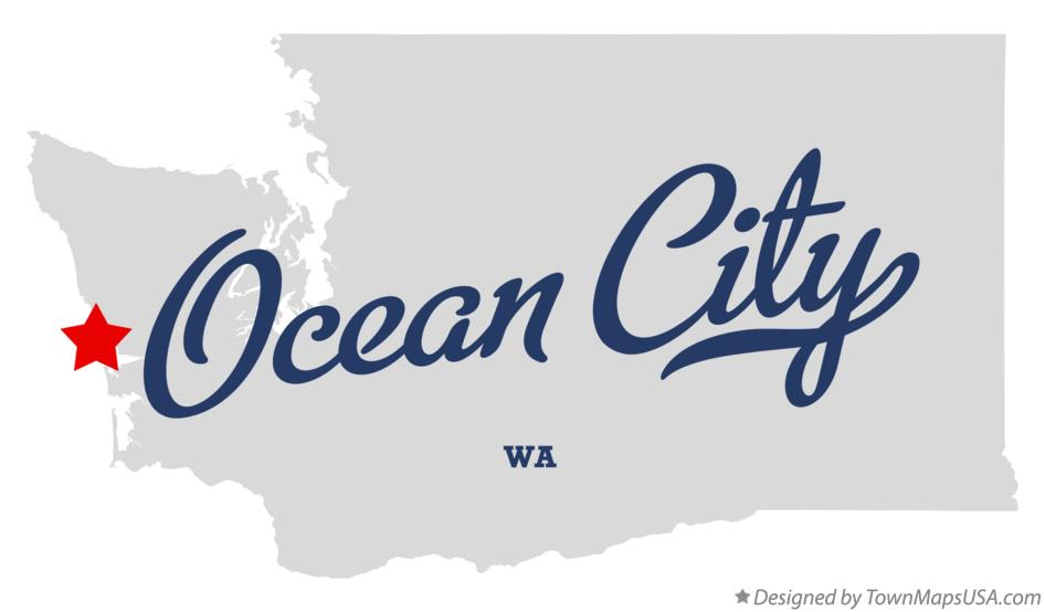 Map of Ocean City Washington WA