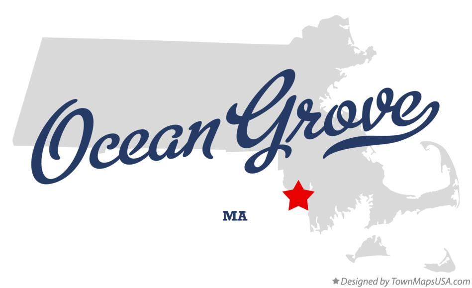 Map of Ocean Grove Massachusetts MA