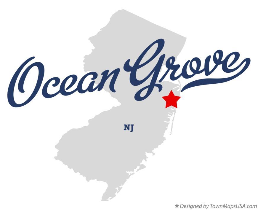 Map of Ocean Grove, NJ, New Jersey