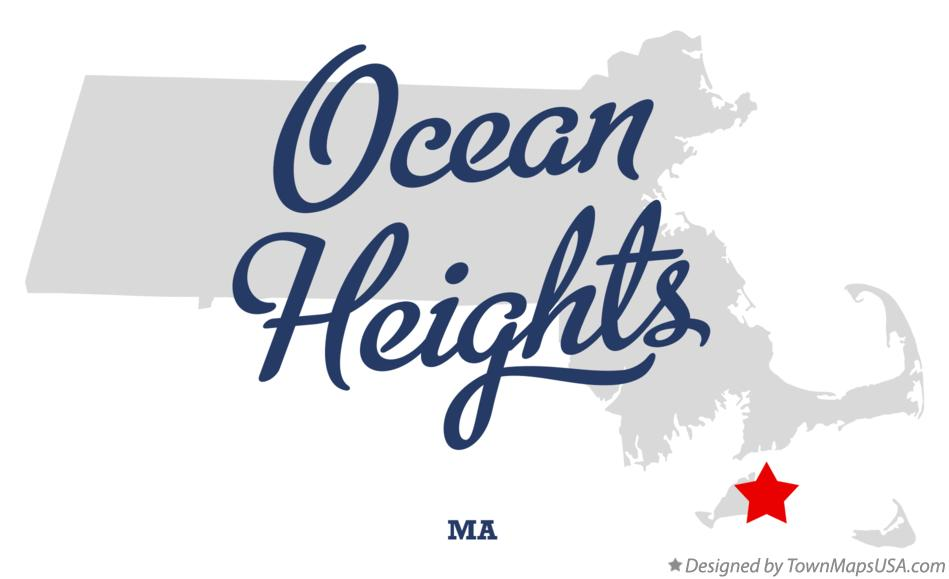 Map of Ocean Heights Massachusetts MA