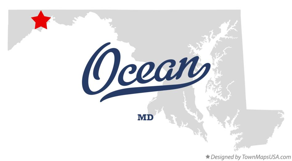 Map of Ocean Maryland MD