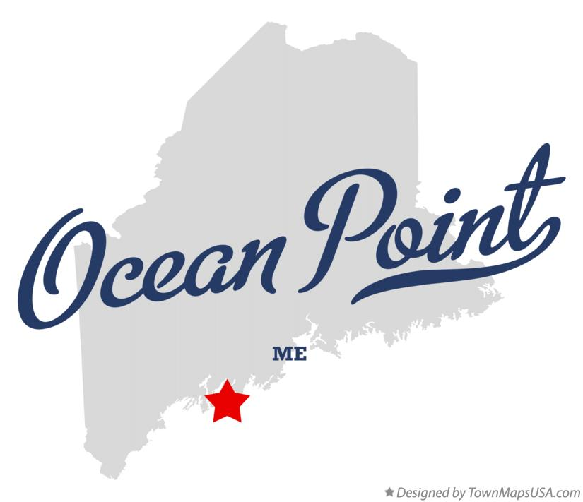 Map of Ocean Point Maine ME
