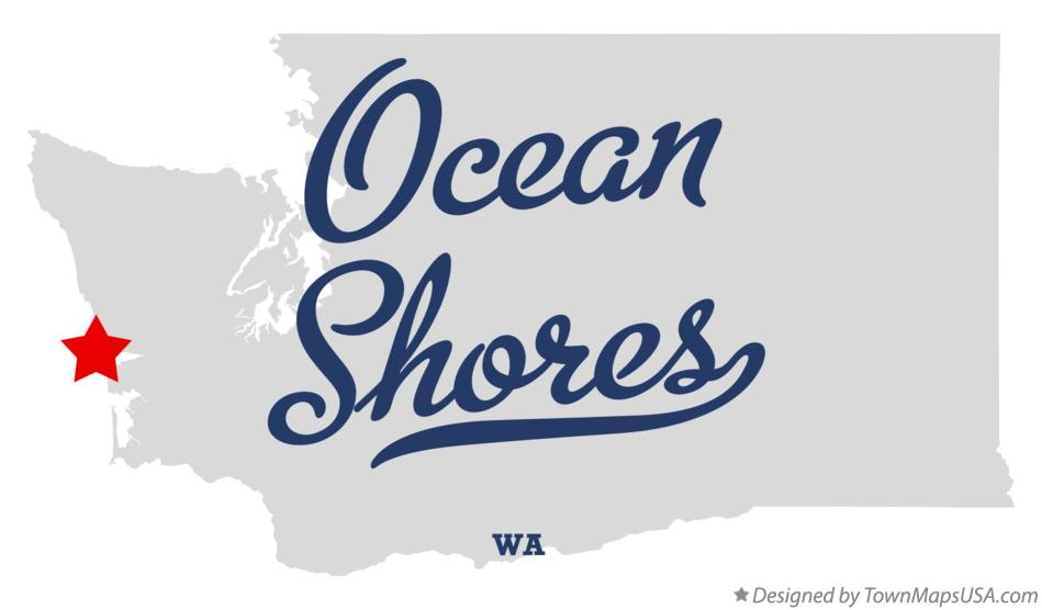 Map of Ocean Shores Washington WA