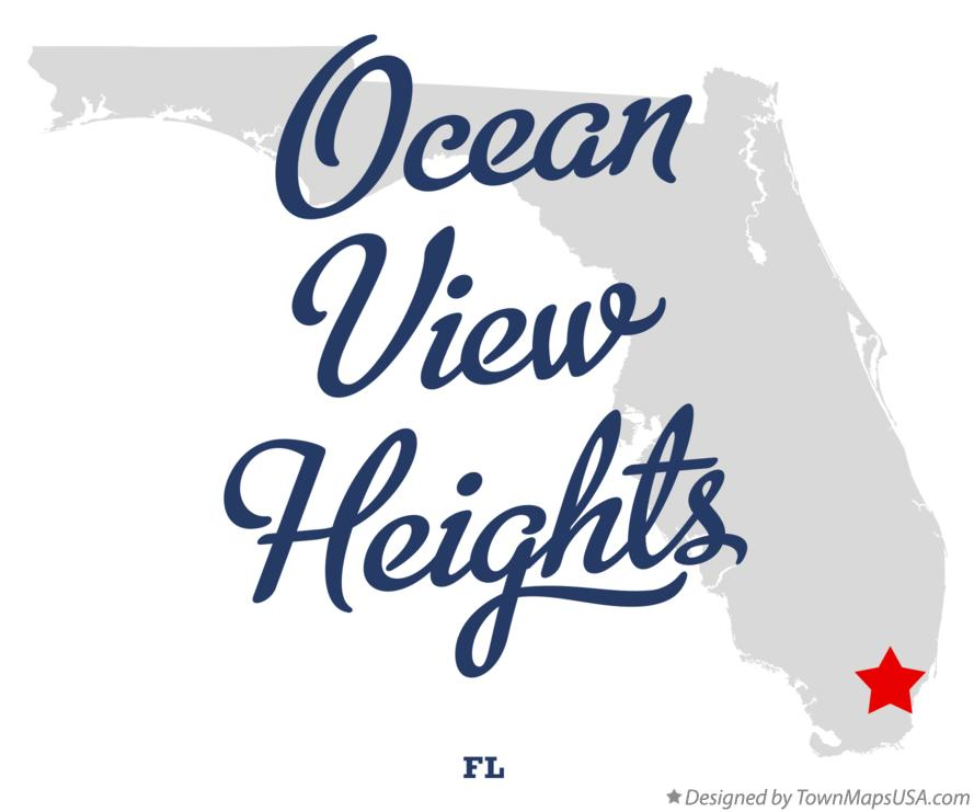 Map of Ocean View Heights Florida FL