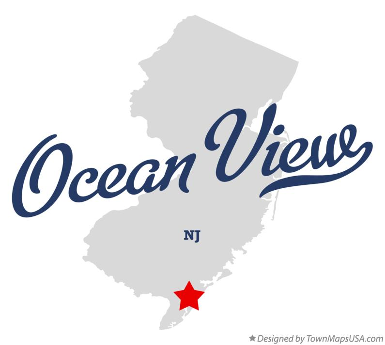 Map of Ocean View New Jersey NJ