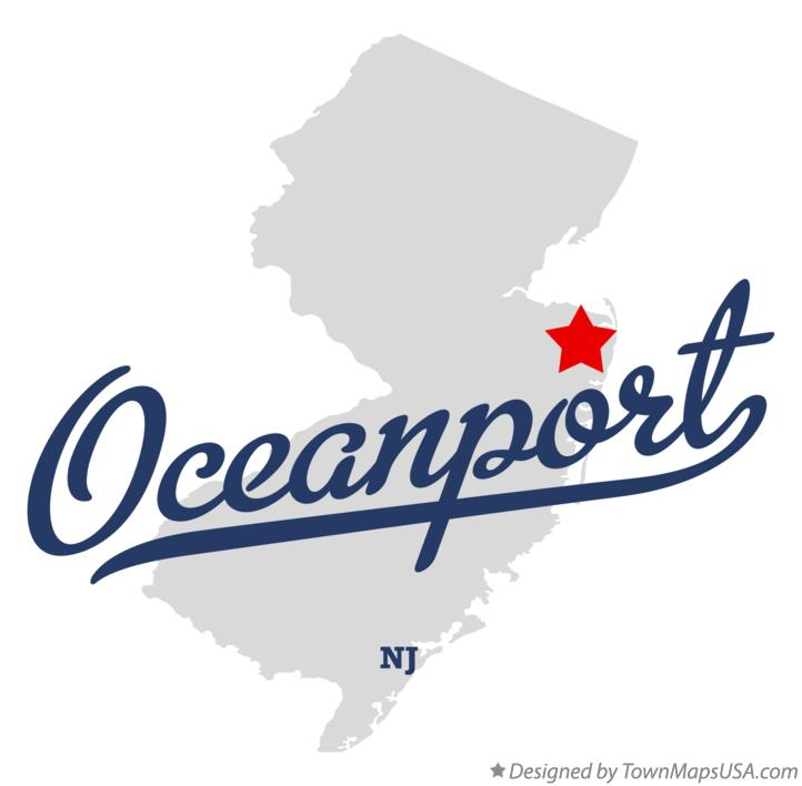 Map of Oceanport New Jersey NJ