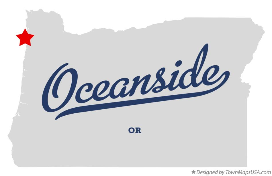 Map of Oceanside Oregon OR