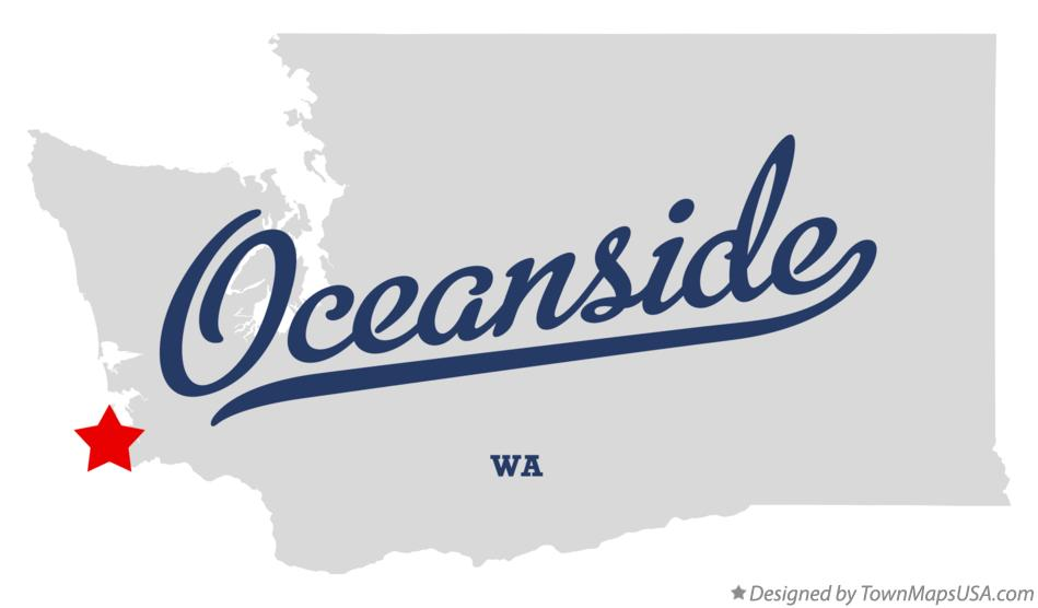 Map of Oceanside Washington WA