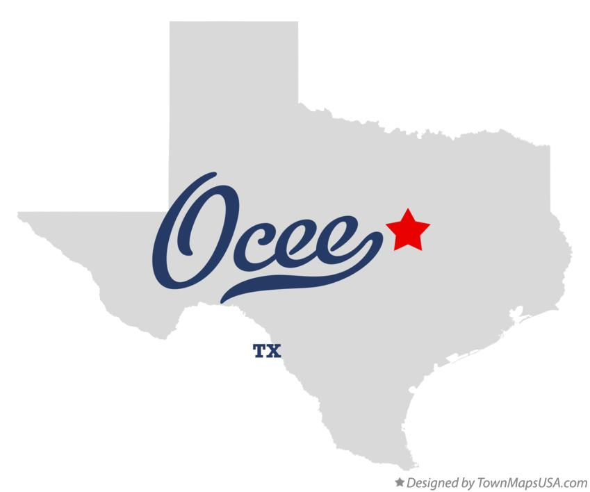 Map of Ocee Texas TX