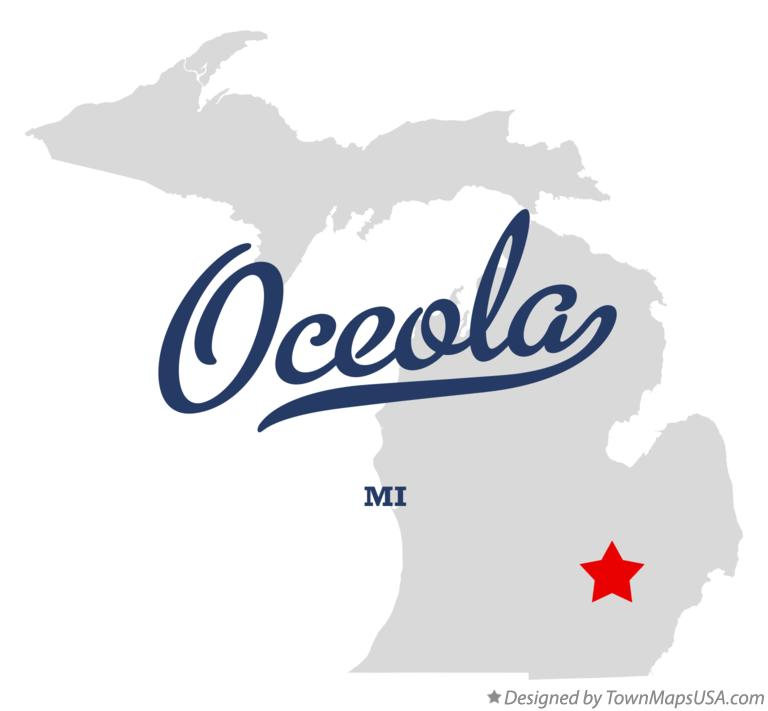 Map of Oceola Michigan MI