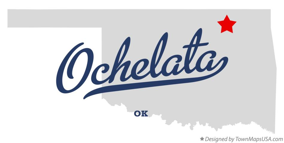 Map of Ochelata Oklahoma OK