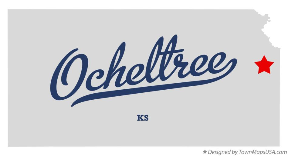 Map of Ocheltree Kansas KS