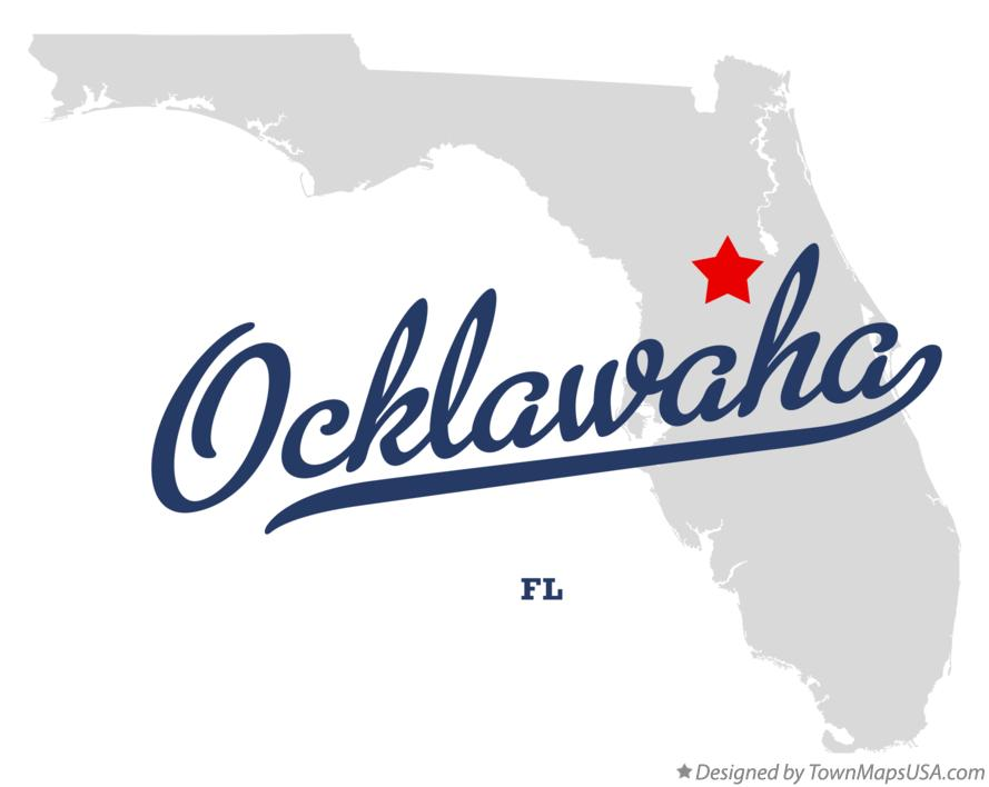 Map of Ocklawaha Florida FL