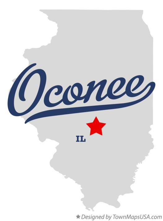 Map of Oconee Illinois IL