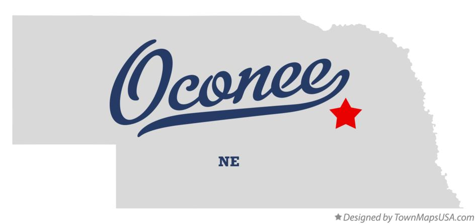 Map of Oconee Nebraska NE
